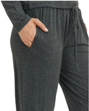 Women's High Rise Relaxed Fit Drawstring Jogger Pants