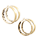 45mm Leopard Inlay Hoops