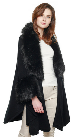 Faux Fur Ruana