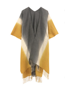Ombre Kimono with Fringe Tassels