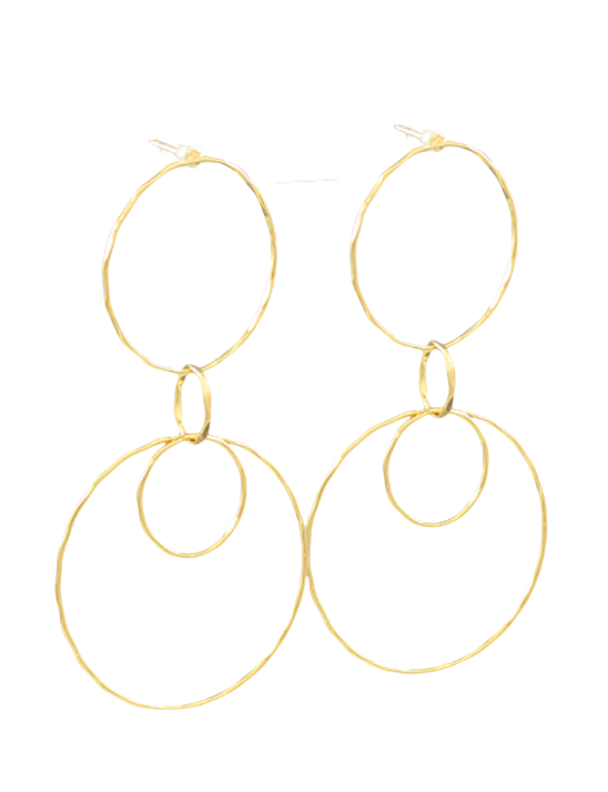 Multi Circle Link Earrings