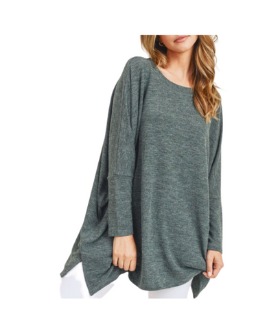 Women's Oversized Dolman Sleeve Tunic Top