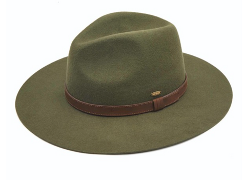 Australian Wool Felt Panama Hat with Leather Band (Firm Brim)