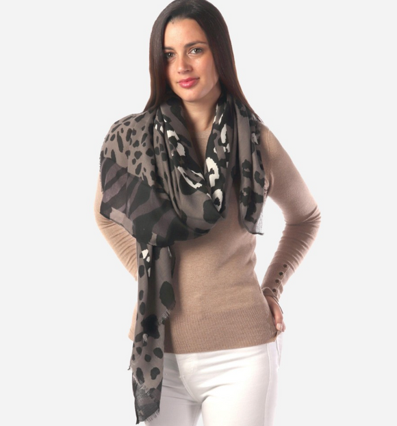 Women's Lightweight Animal Print Scarf