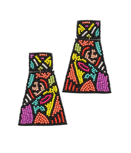 Pop Art Lip Trapezoid Earrings