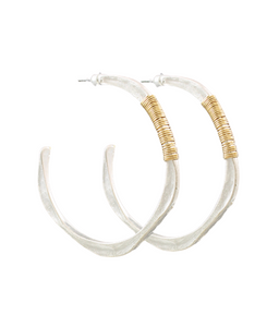 Wire Wrapped Wavy Hoops