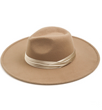Crossed Satin Band Hat