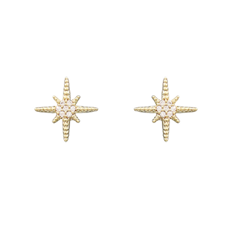CZ Starburst Earrings