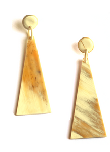Large Triangle Earring (Natural / White Color)