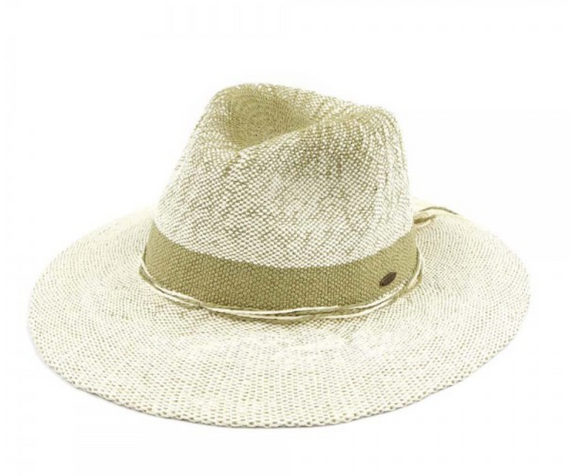 Two-Tone Gradient Panama Hat