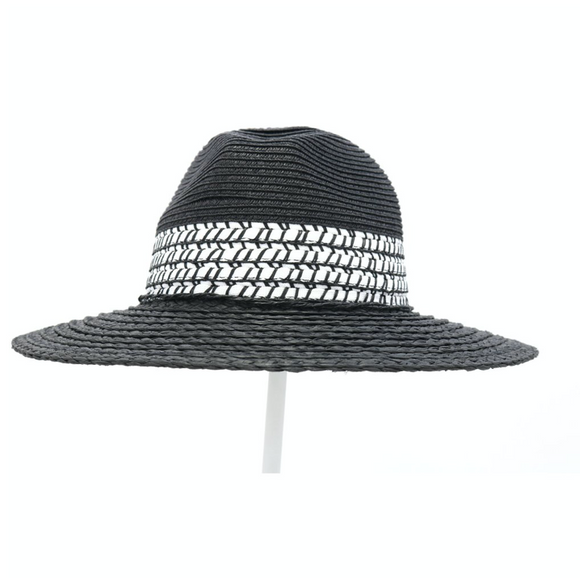 Panama Hat with Stitch Detail