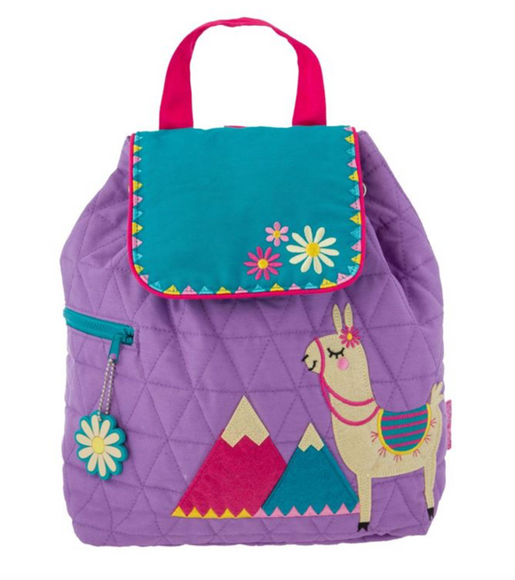 QUILTED BACKPACK LLAMA