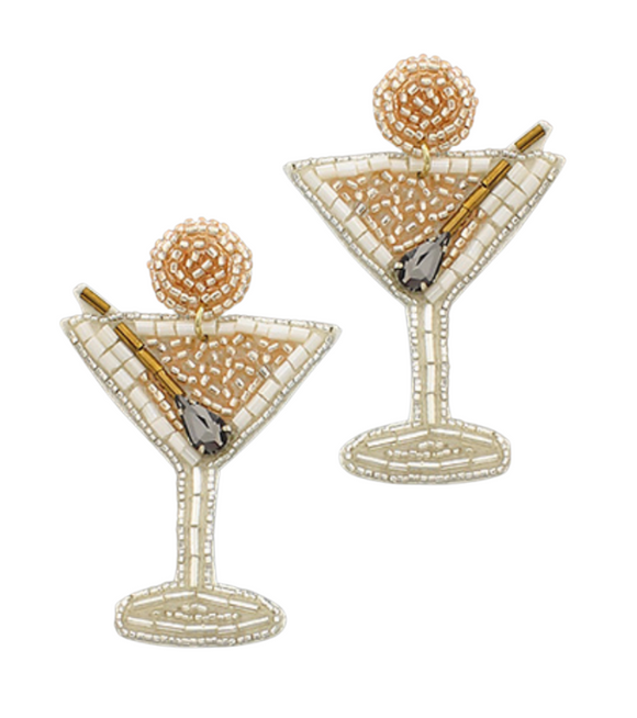 Martini Bead Earrings