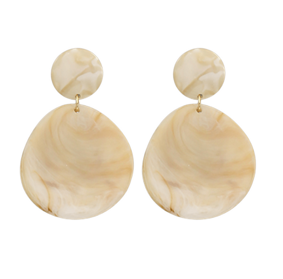 Acrylic Double Disk Earrings