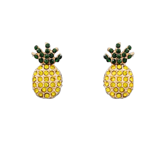 Pineapple Crystal Studs