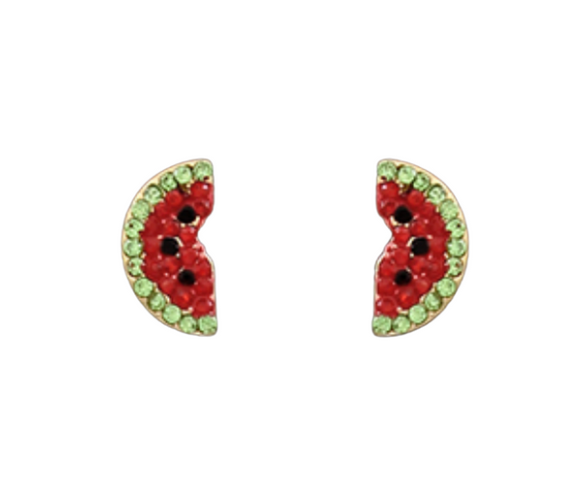 Watermelon Crystal Studs