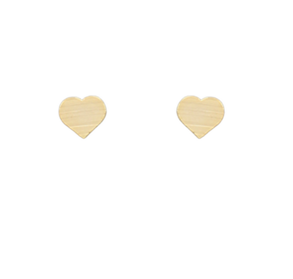 Scratched Heart Studs