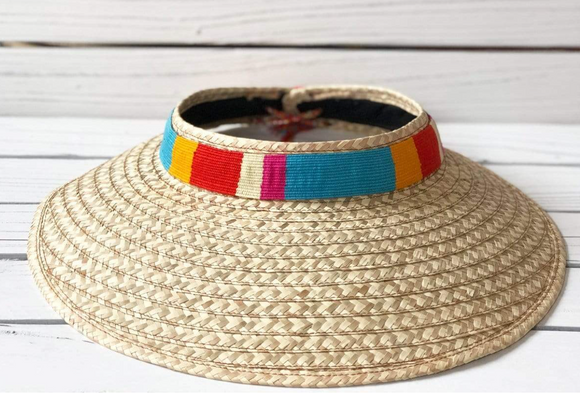 Handmade Striped Visor