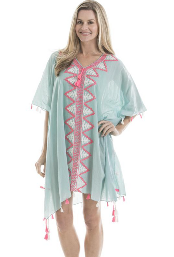MINT / HOT PINK COVER UP