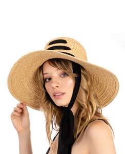 Multi Ribbon Strap Raffia Sun Hat