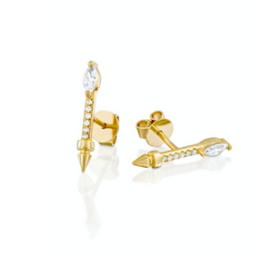CZ Arrow Stud Earrings