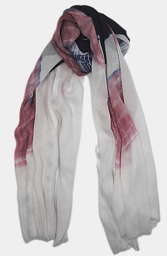 Old Rose Navy Tie Dye Sarong