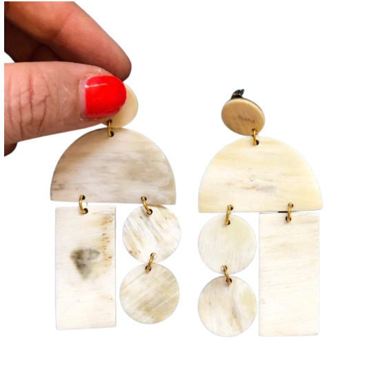 Natural Horn Mobile Earrings