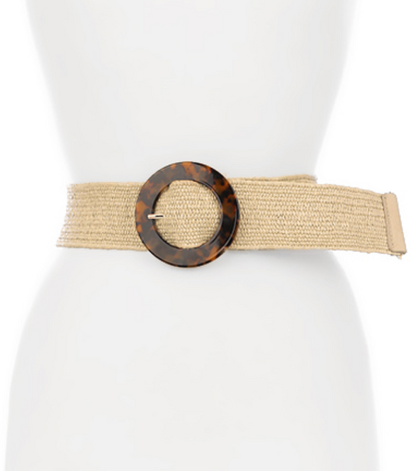 Tortoise Circle Buckle Belt