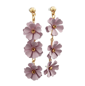 3 Blossom Drop Earrings