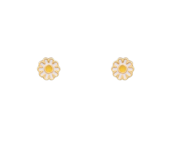 Mini Daisy Epoxy Earrings