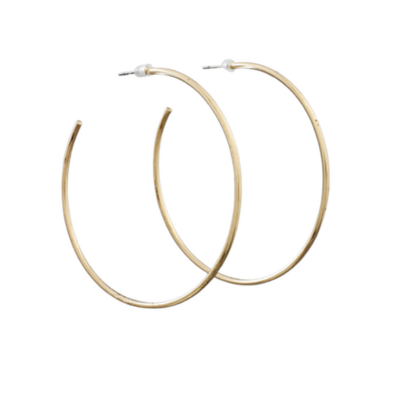 50mm Brass Open Hoops