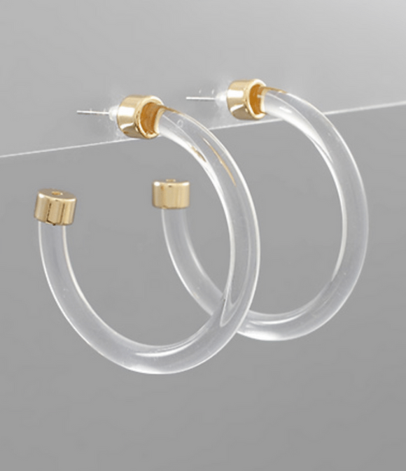 45mm Lucite Hoops