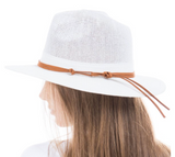 Woven Panama Hat Featuring Leather Band
