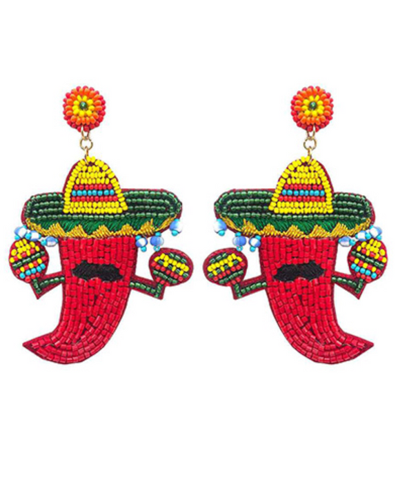 Sombrero Pepper Earrings