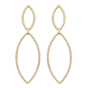 2 Textured Marquise Earrings