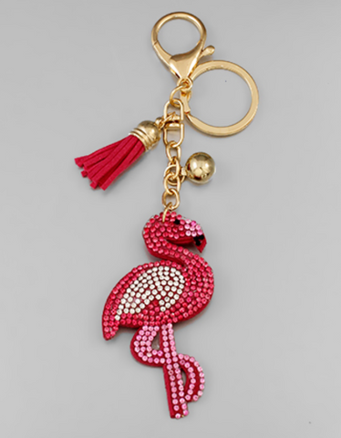 Flamingo Crystal Key Chain