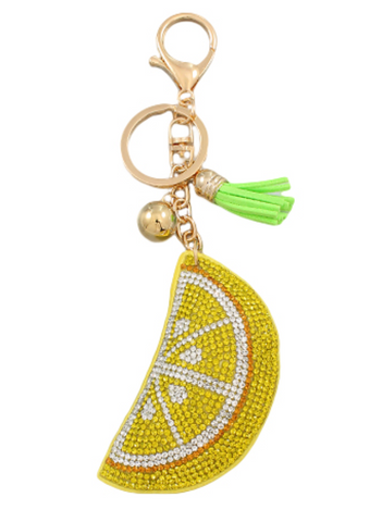 Fruit Crystal Key Chain
