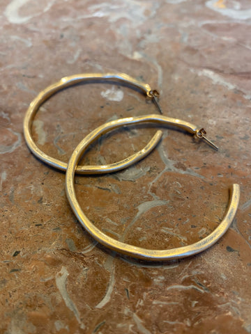 Hammered Gold Hoop