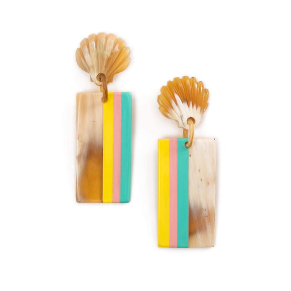 Breezy Seashell Horn Earrings
