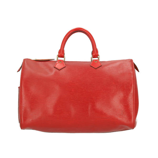 Louis Vuitton Red Epi Leather Speedy 35 Handbag