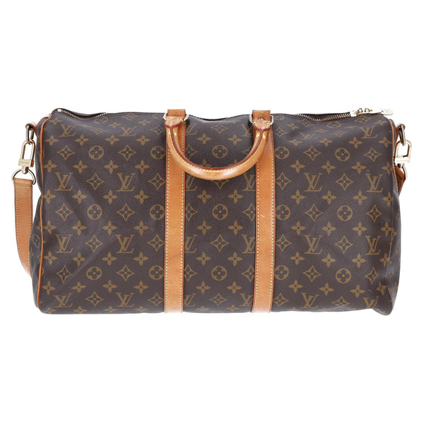 Louis Vuitton Monogram Keepall Bandouliere 45 Travel Bag