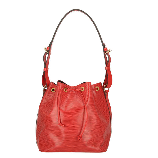 Louis Vuitton Red Epi Leather Petit Noe Shoulder Bag