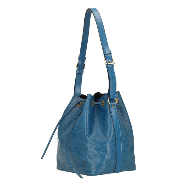 Louis Vuitton Blue Epi Leather Petit Noe Shoulder Bag
