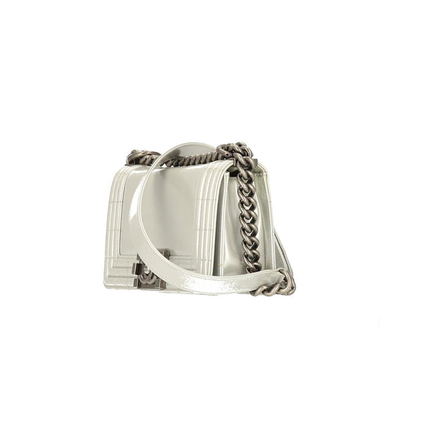 Chanel Silver Glazed Calfskin RHW Small Le Boy Bag