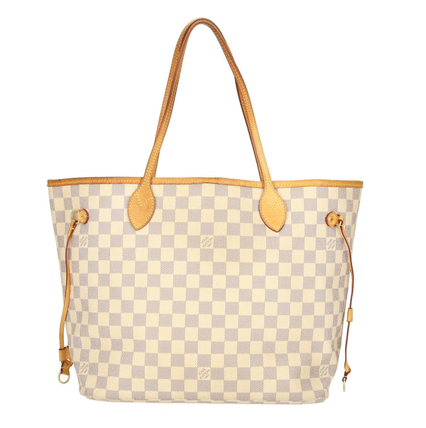 Louis Vuitton Damier Azur Neverfull MM Shoulder Bag