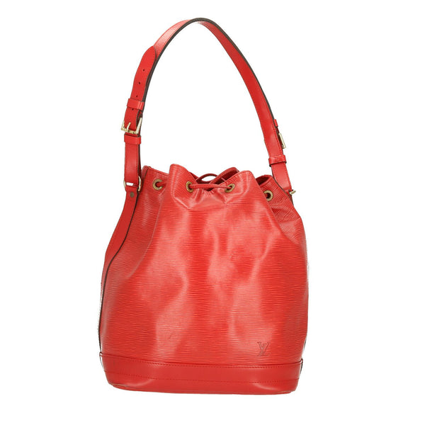 Louis Vuitton Red Epi Leather Noe Shoulder Bag