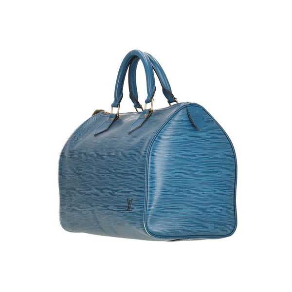 Louis Vuitton Blue Epi Leather Speedy 30 Handbag
