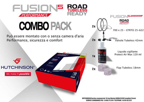 Kit Completo Tubeless Ready Fusion 5 Performance x 2pz HUTCHINSON - Charlie Bike Store