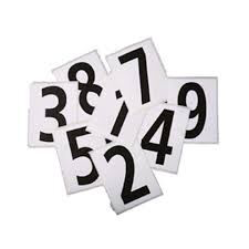 Hip Numbers - Pack of 25