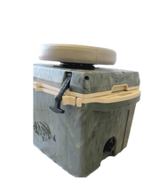 Load image into Gallery viewer, 27 QT WOODLAND CAMO COOLER W/ SWIVEL SEAT